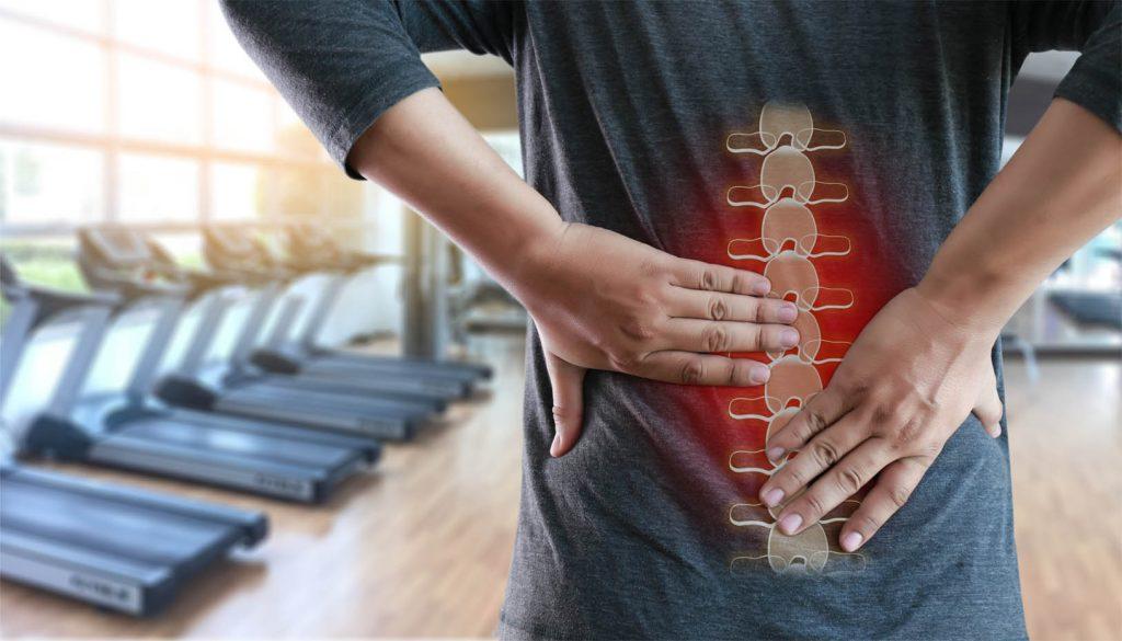 Onderrugblessure als onderdeel van de serie over blessures en letsel