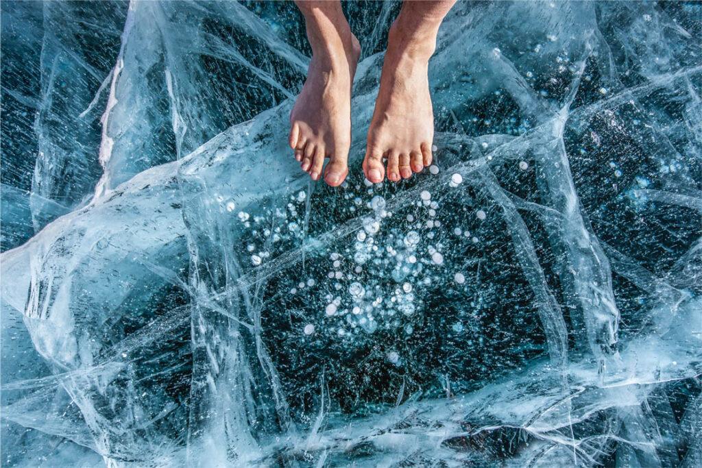 minder spiergroei door een koudwaterbad